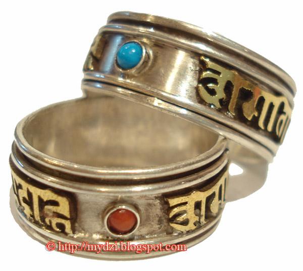 Buddhist OM Mani Padme Hum Rings