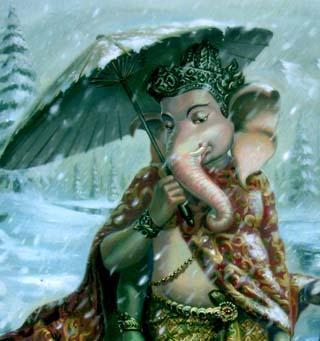 Ganesha In Rain