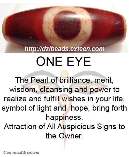 ONE EYE DZI MEANING CARD