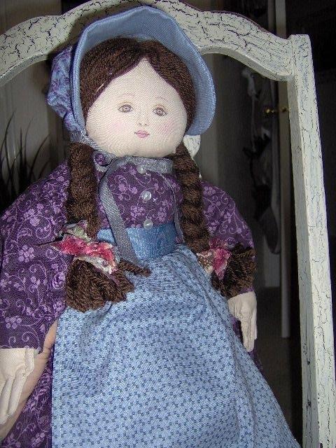 "Benartex Americana Collection Purple 18/"" Doll Dress Panel Blue Fabric Sewing"