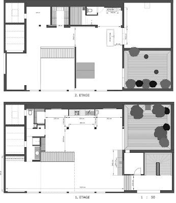 plan maison etage 150m2