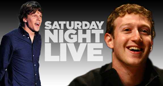 Mark Zuckerberg Joins Jesse Eisenberg On SNL