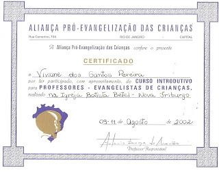 Certificado do Curso da APEC