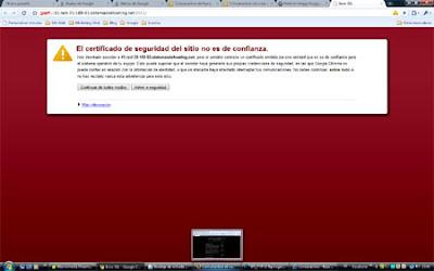 Google Crhome aviso certificado