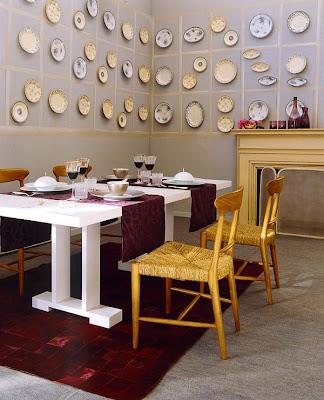 Wunderkammer decorar con platos 4 composiciones - Platos decorativos pared ...