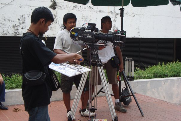 on the set  'Toyol Nakal' the movie