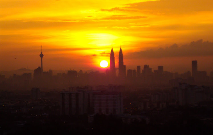 Sunset KL view ..........