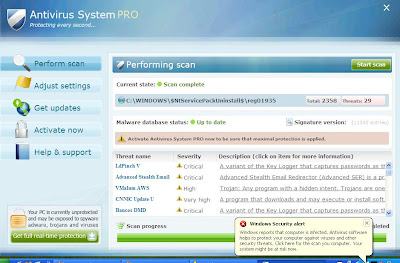 Antivirus System PRO