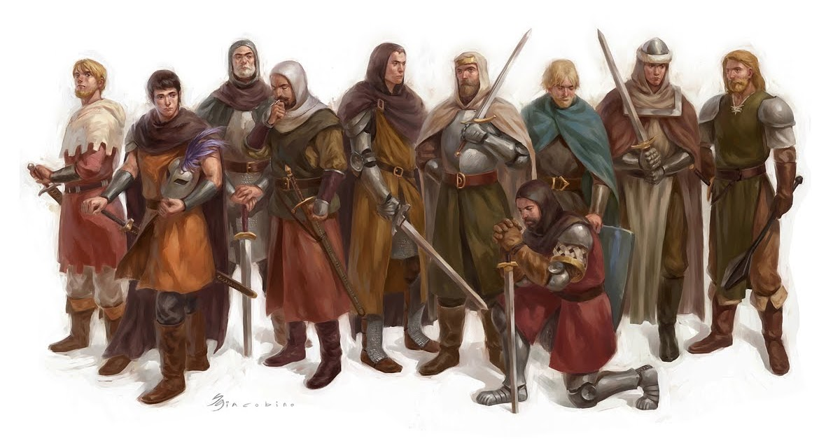 Sebastian giacobino ilustrador knights of the round table for 13 knights of the round table