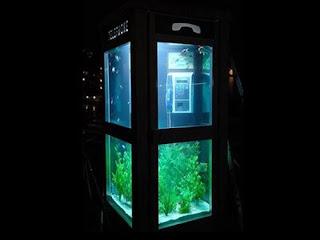 Aquarium Telephone Booth in France