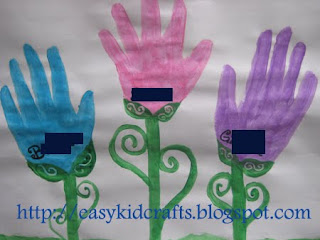 All 3 sisters have a handprint on this craft! Great for Mothers Day as well!