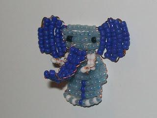 Слонёнок из бисера