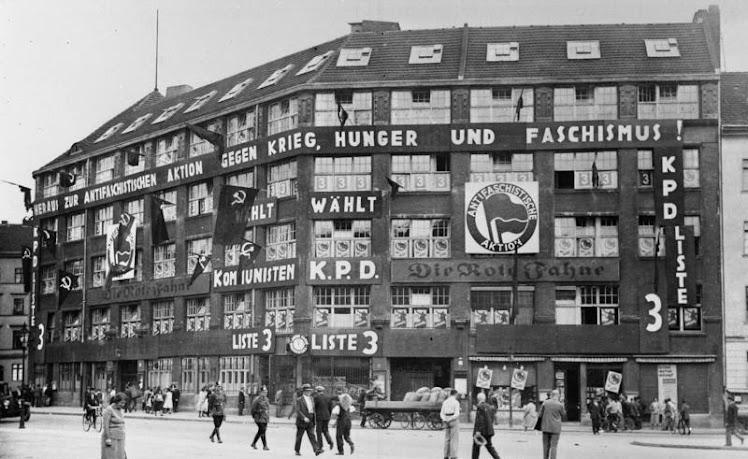 Año 1923. Berlin (Alemania) Edificio de la primera Coordinadora Antifascista del mundo