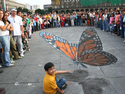 Pavement butterfly