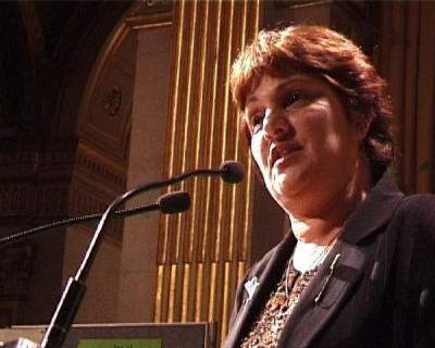 Marie Humbert på talerstolen