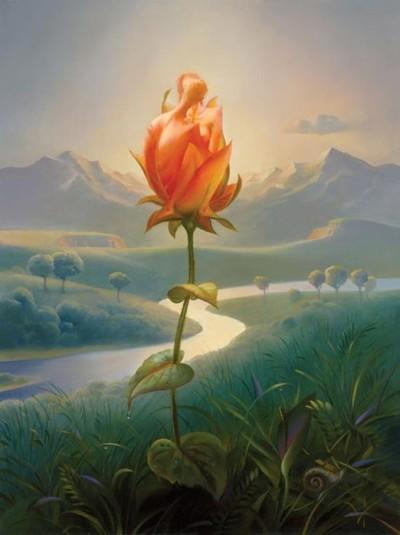 Morning Blossom by Vladimir Kush