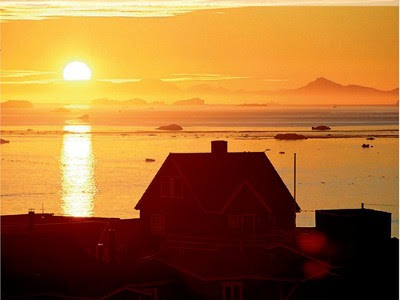 Midnatssolen på Nordgrønland