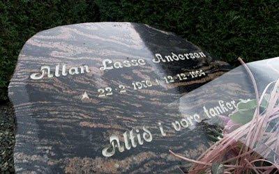 Gravsten: Allan Lasse Andersen