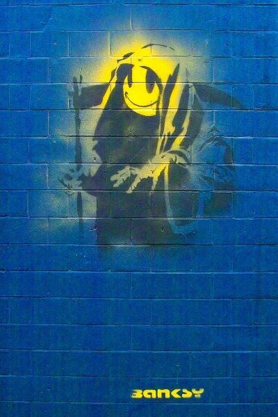 Banksy: Grin Reaper - Smiley med leen