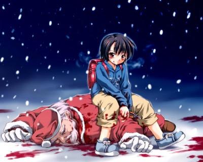 Dræbt julemand, myrdet med kniv af uartig dreng