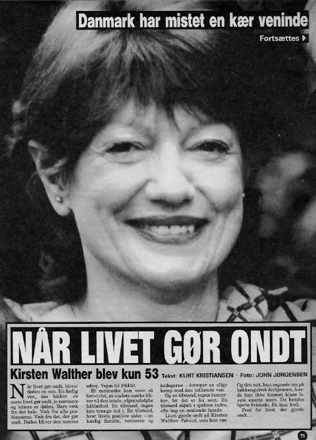 Danmark har mistet en kær veninde - Når livet gør ondt - Kirsten Walther blev kun 53