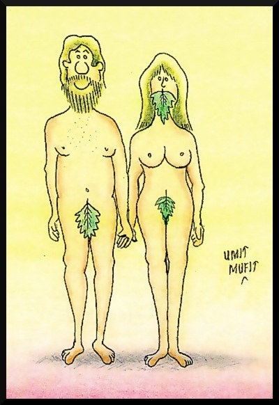 Kønsdiskrimination fra Bibelen, karikatur-tegning