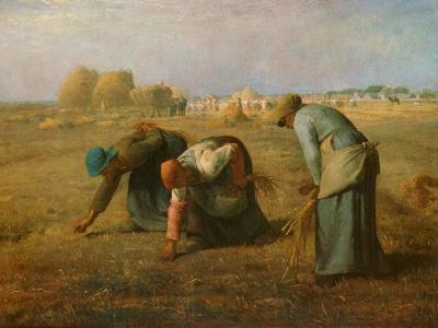 De fattige sanker korn, maleri fra 1857 af Jean-François Millet