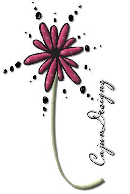 http://cajundesignscrapz.blogspot.com/2009/07/pink-dots-flower.html