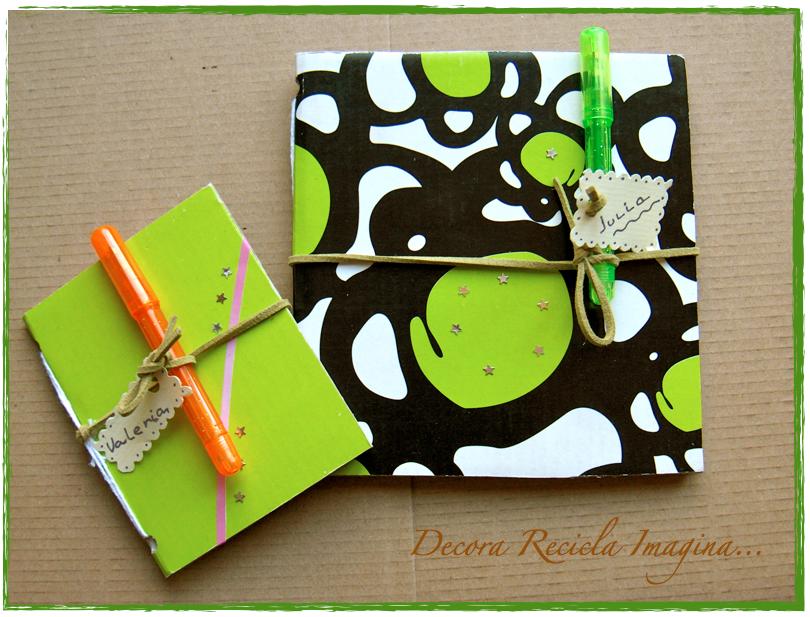 Decora recicla imagina cuadernos reciclados - Como decorar reciclando ...