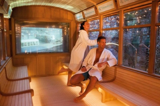 Italy inaugurates world s first sauna tram likepage for Unique design milano