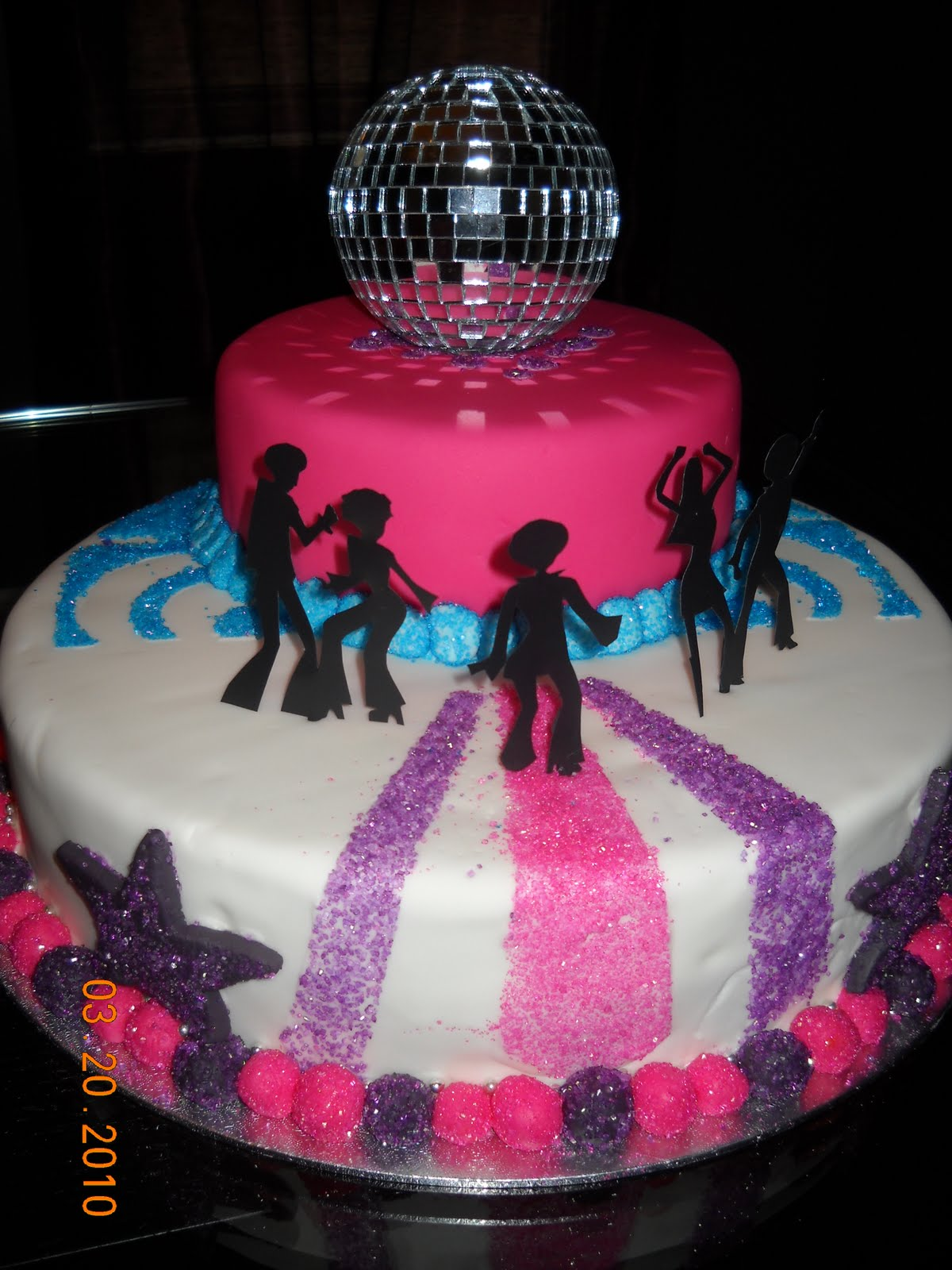 Disco Party Cake Images : Jocelyn s Wedding Cakes and More....: disco cake