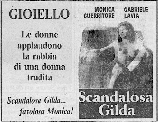Scadalous Gilda newspaper ad