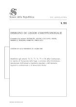 Disegno Di Legge Costituzionale