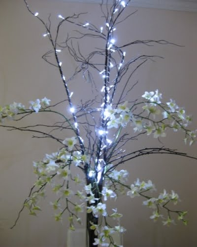 $52.00 WILLOW WITH FAIRY LIGHTS
