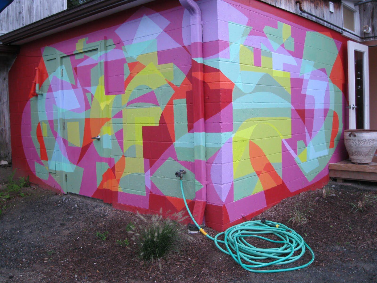 Wonder cupboard local morning in paris sean 39 s mural for Mural go green