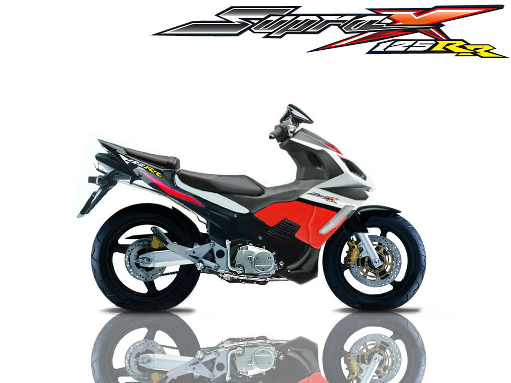 supra x 125+RR Honda Supra X 125 Full Modifikasi Motor Race Factory Design