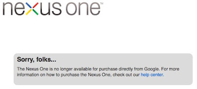 Google's Nexus One supply is overquota