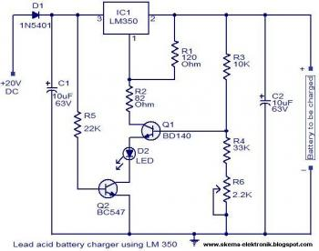 L200 12v Constant Voltage Battery Charger Circuit 911