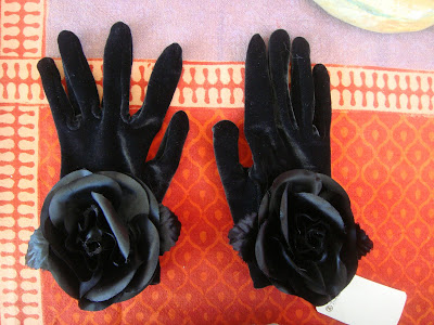 Black velvet gloves at the Brooklyn Flea