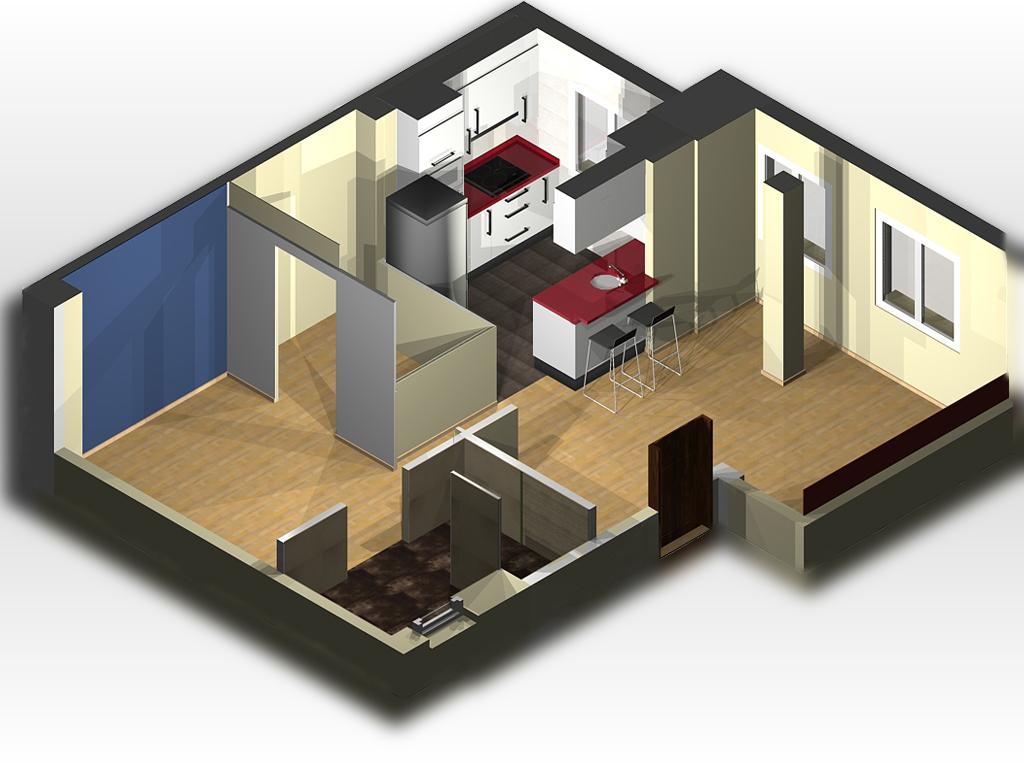 Decorando una casa dise o en 3d de la propuesta decorativa - Diseno de casas 3d ...