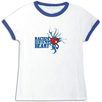 Racism hurts - Idakoos T-Shirt