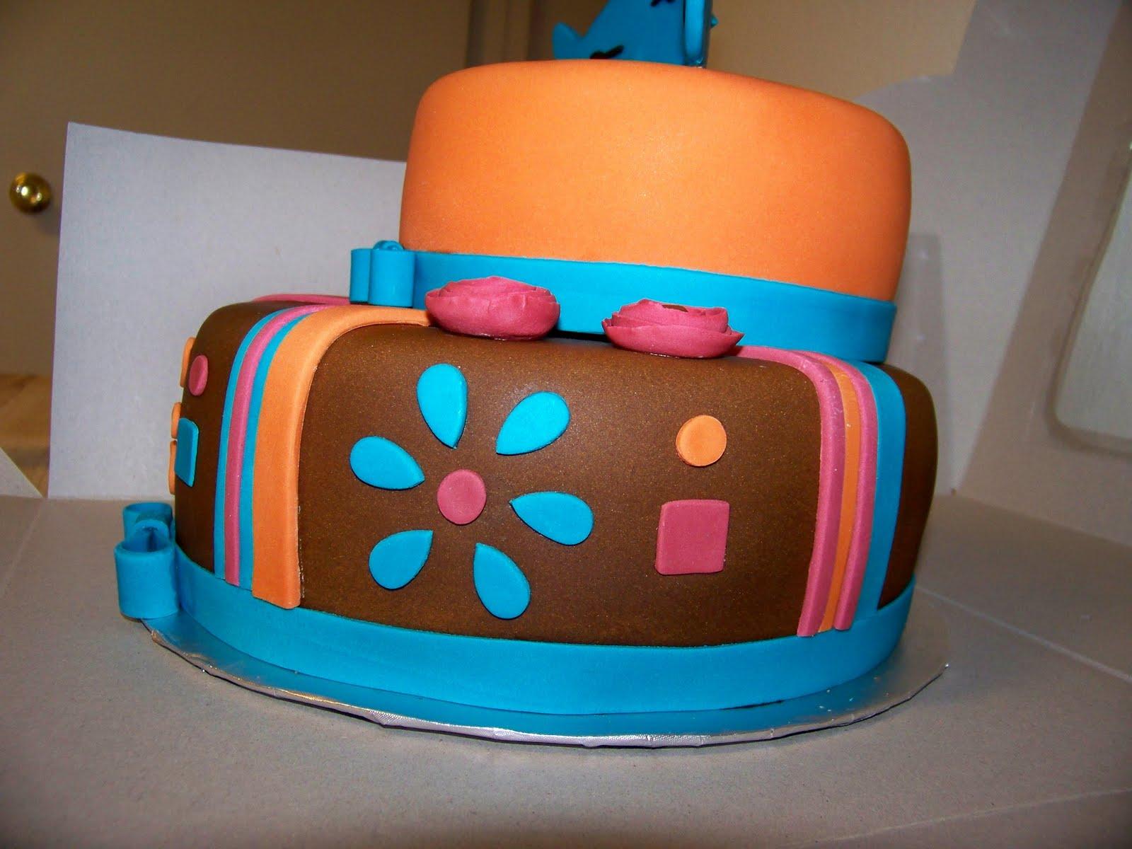 Colored Ganche Cake