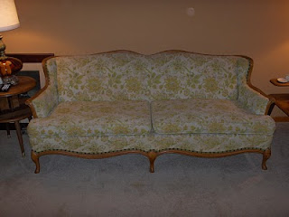 I Inherited This Great 1950s French Provincial Sofa From My Great Aunt When  She Moved Into An Assisted Living Facility A Couple Of Years Ago.