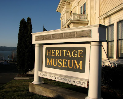Old Sign of the Heritage Museum, Astoria, Oregon