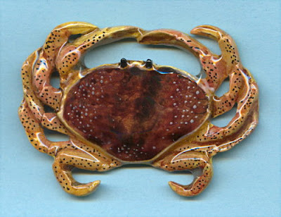 Dungeness Crab Jewelry (Pin, Tie Tack)