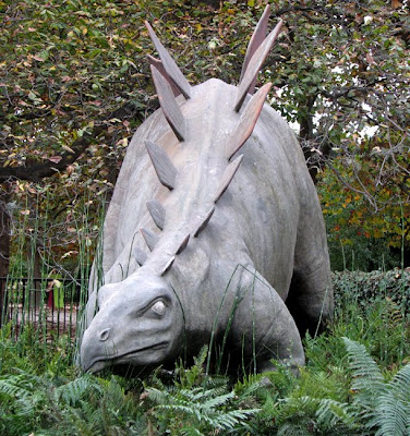 Stegosaurus Sculpture at the Paleontology Museum, Jardin des Plantes, Paris