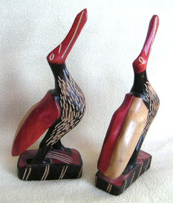 Carved African Birds from an Estate Sale, Astoria, Oregon