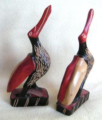 Carved African Birds from an Estate Sale, Astoria, Oregon