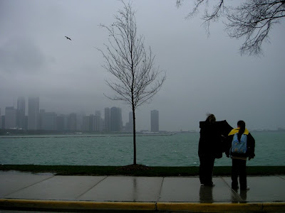 Chicago Skyline in Storm