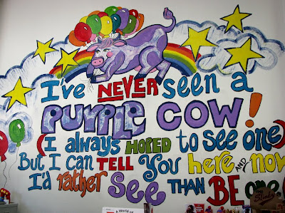 Purple Cow Poem at Purple Cow Toys, Astoria, Oregon